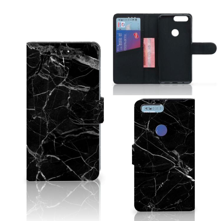 OnePlus 5T Bookcase Marmer Zwart