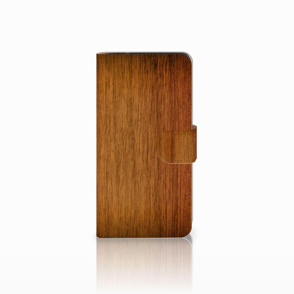Samsung Galaxy J2 2016 Uniek Boekhoesje Donker Hout