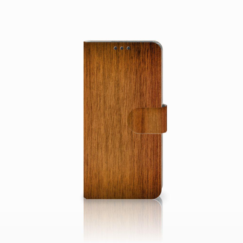 Sony Xperia Z5 Premium Uniek Boekhoesje Donker Hout