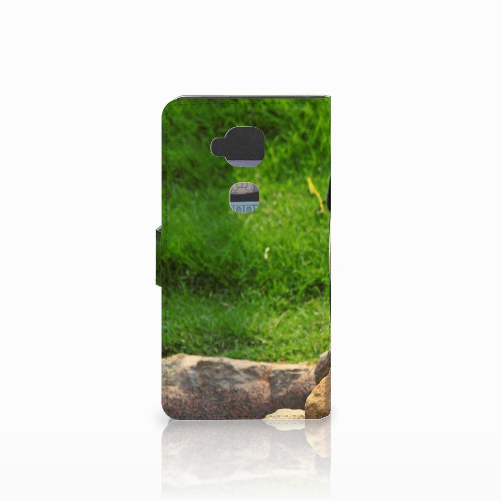 Huawei G8 Telefoonhoesje met Pasjes Panda