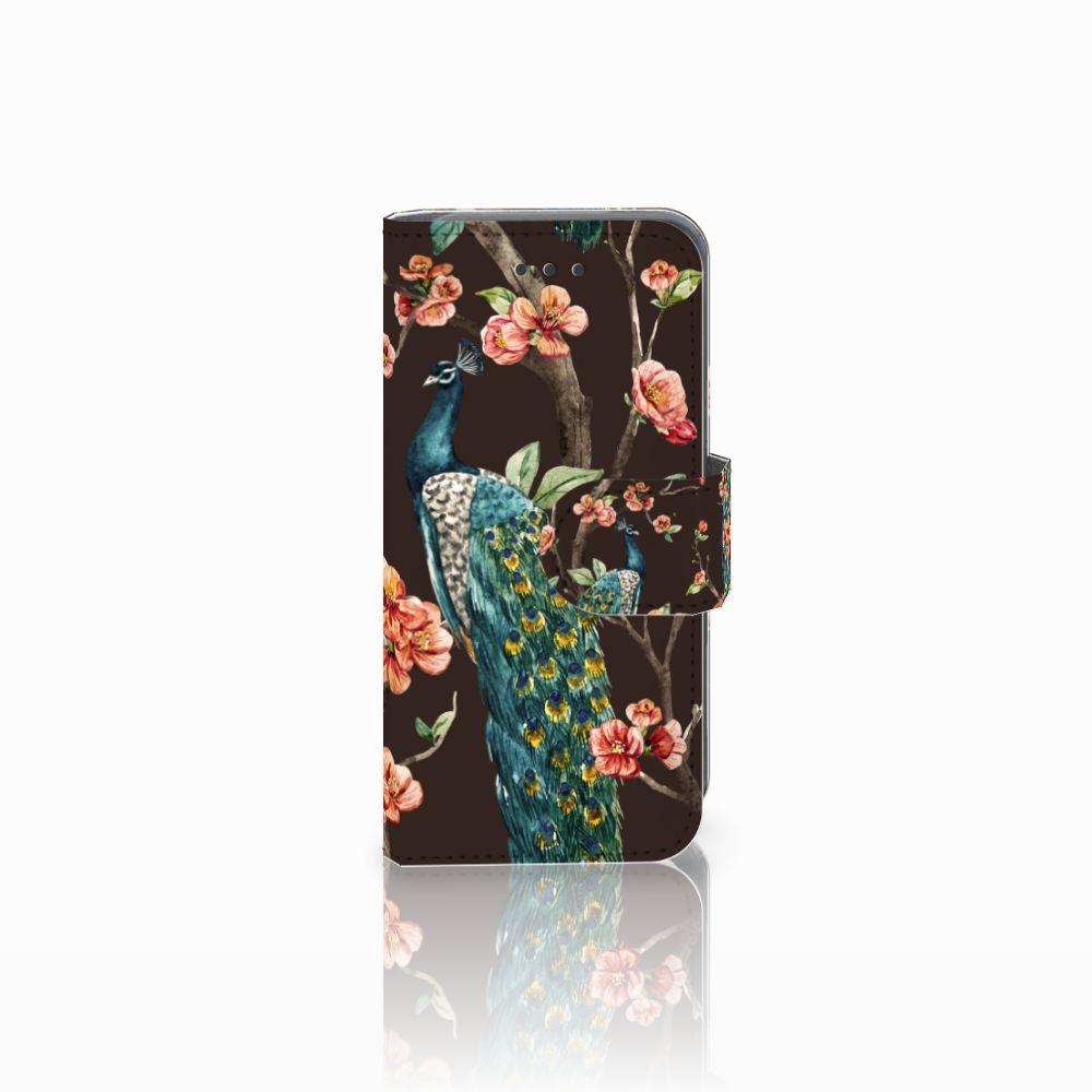 Apple iPod Touch 5   6   iPod (2019) Telefoonhoesje met Pasjes Pauw met Bloemen