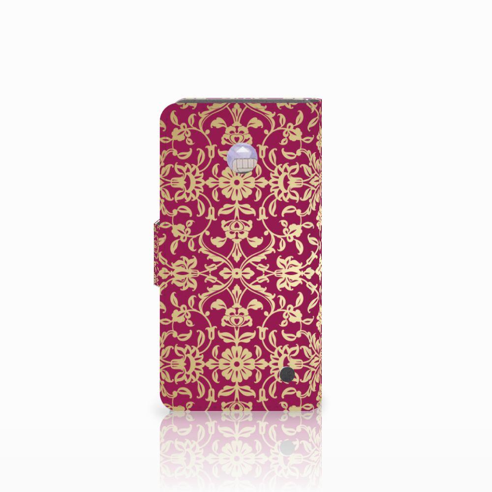 Wallet Case Nokia Lumia 630 Barok Pink