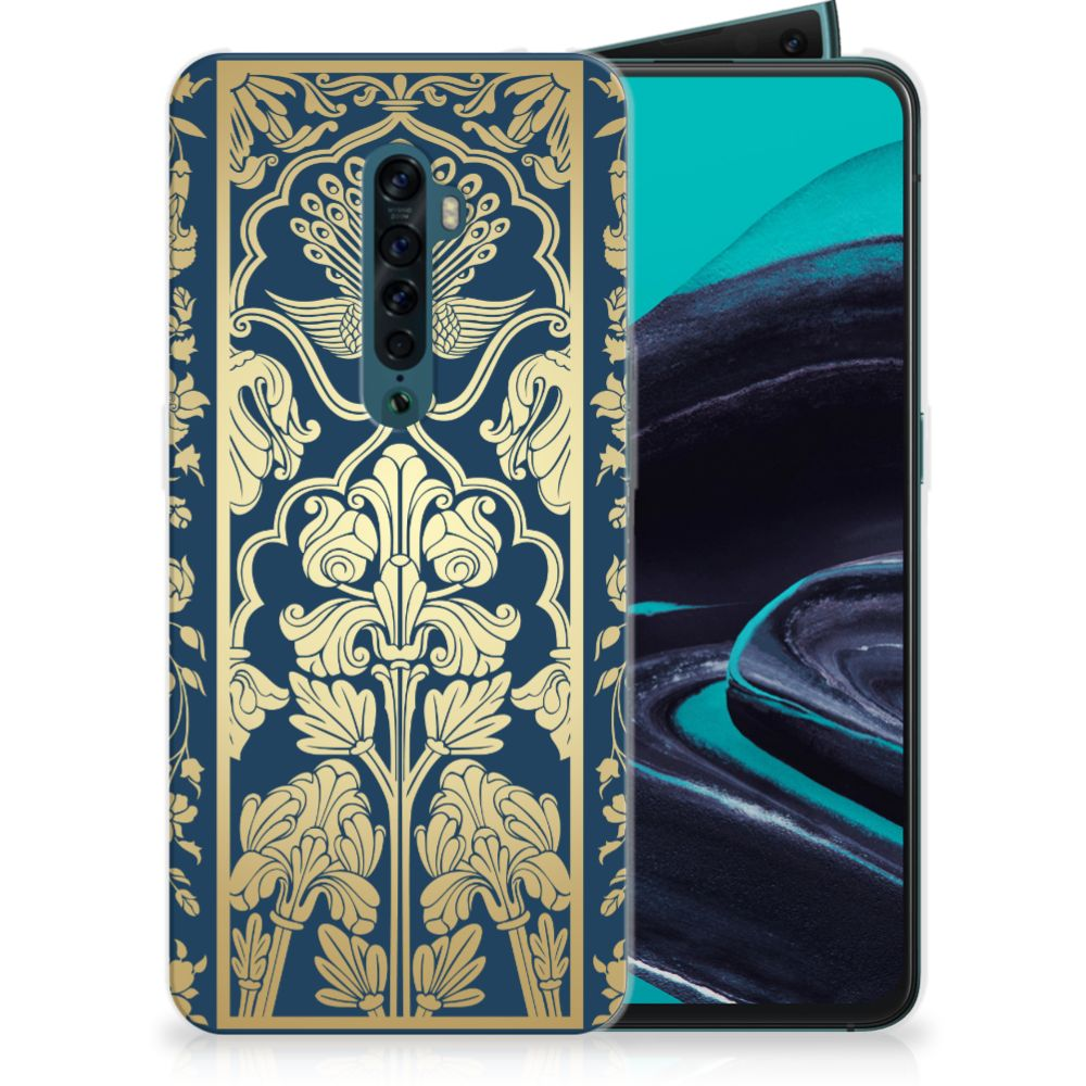 OPPO Reno 2 TPU Case Golden Flowers