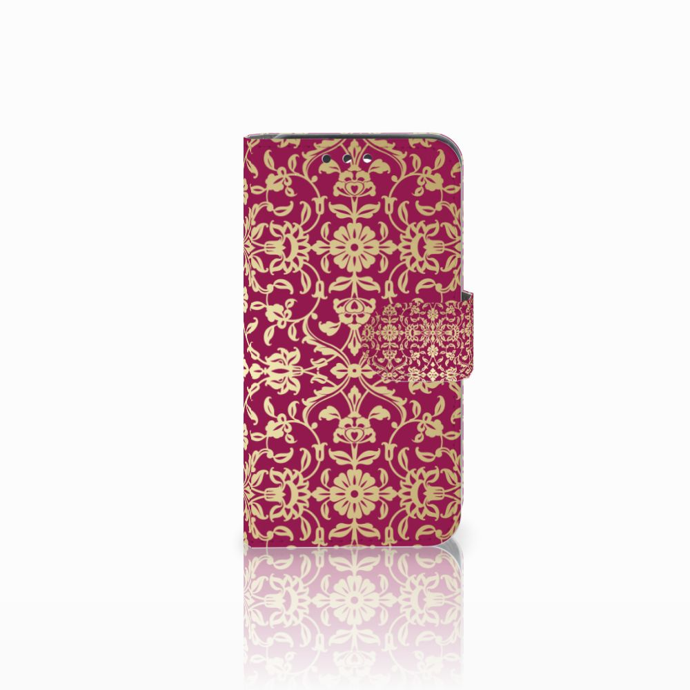 Wallet Case Huawei Y5 Y560 Barok Pink