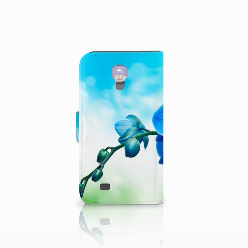 Samsung Galaxy S4 Hoesje Orchidee Blauw