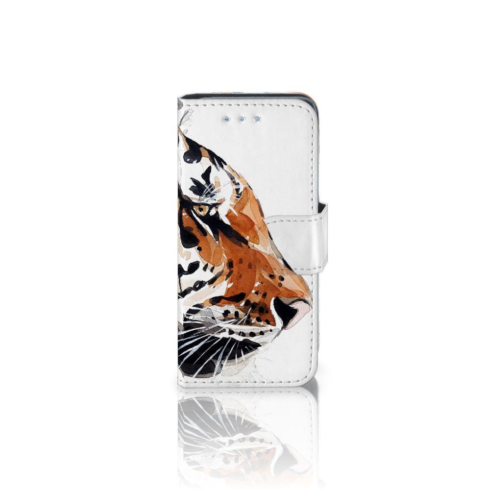 Samsung Galaxy S4 Mini i9190 Uniek Boekhoesje Watercolor Tiger