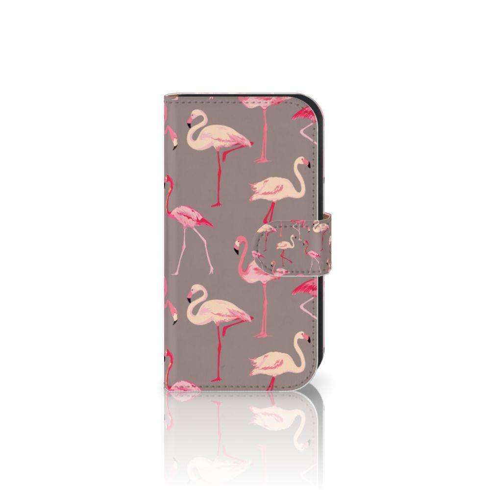 Samsung Galaxy Ace 4 4G (G357-FZ) Uniek Boekhoesje Flamingo