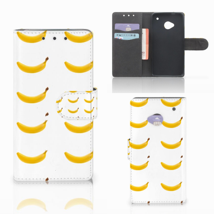 HTC One M7 Book Cover Banana