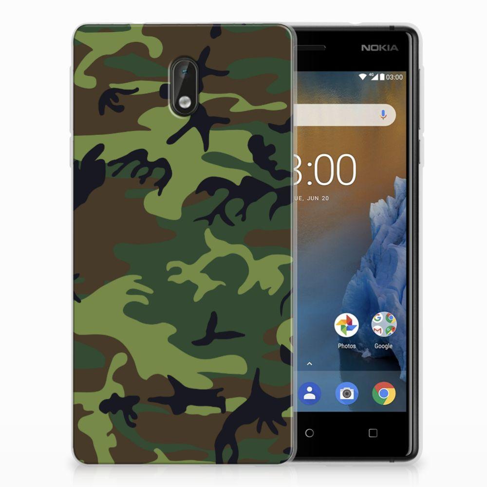 Nokia 3 TPU Hoesje Design Army Dark