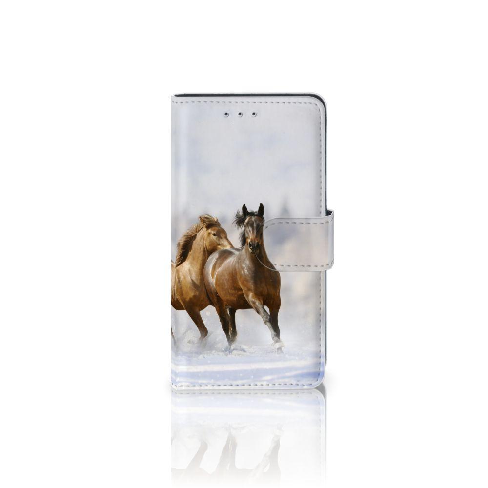 Motorola Moto G 3e Generatie Uniek Boekhoesje Paarden