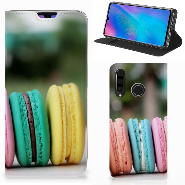 Huawei P30 Lite Flip Style Cover Macarons