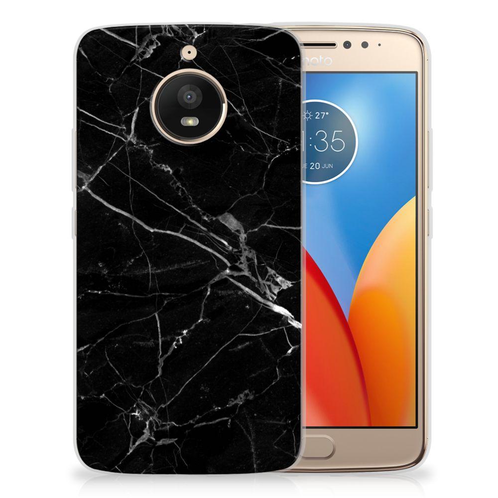 Motorola Moto E4 Plus Uniek TPU Hoesje Marmer Zwart