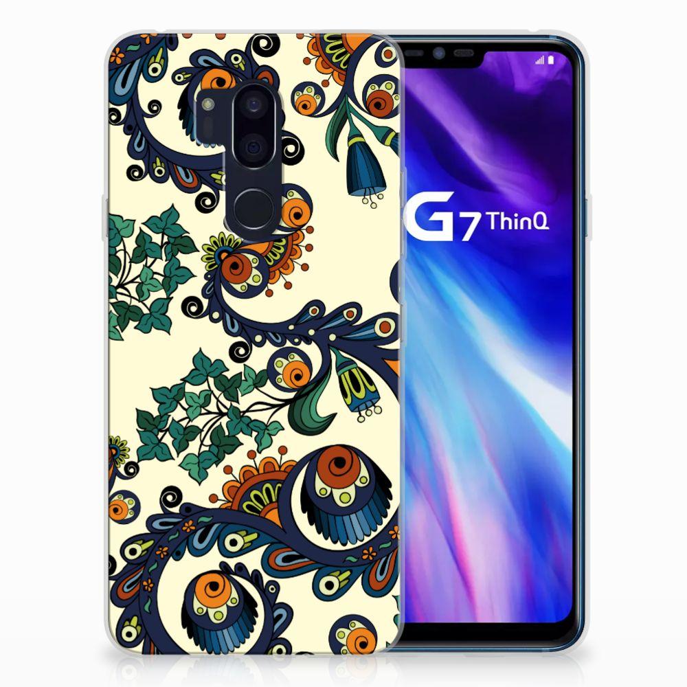 Siliconen Hoesje LG G7 Thinq Barok Flower