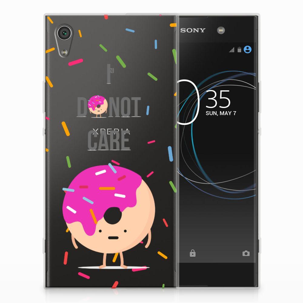Sony Xperia XA1 Ultra Siliconen Case Donut Roze