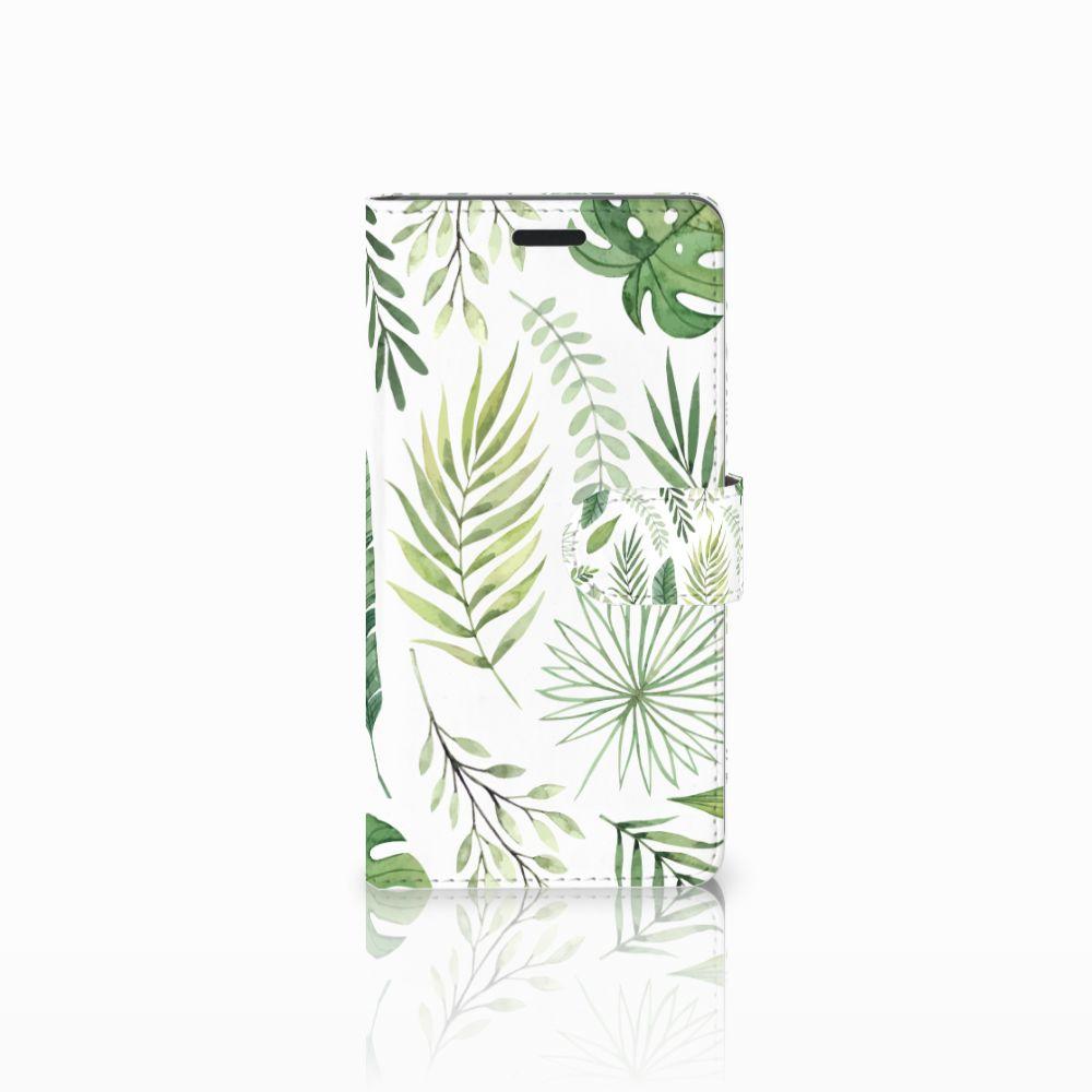 Samsung Galaxy A7 2015 Uniek Boekhoesje Leaves