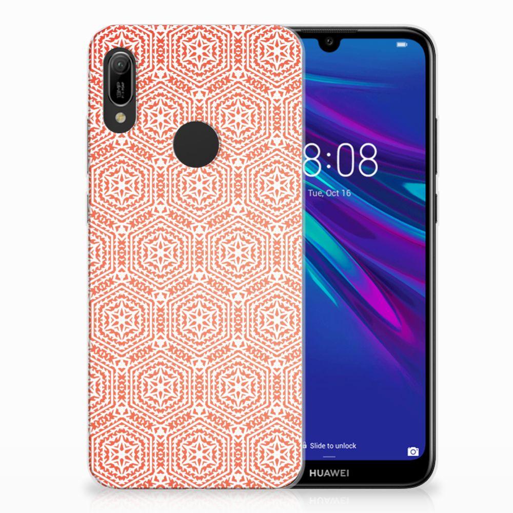 Huawei Y6 2019 | Y6 Pro 2019 Uniek TPU Hoesje Pattern Orange