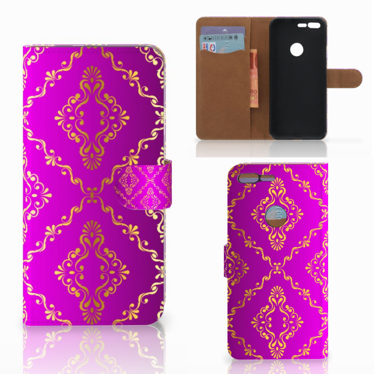 Wallet Case Google Pixel XL Barok Roze