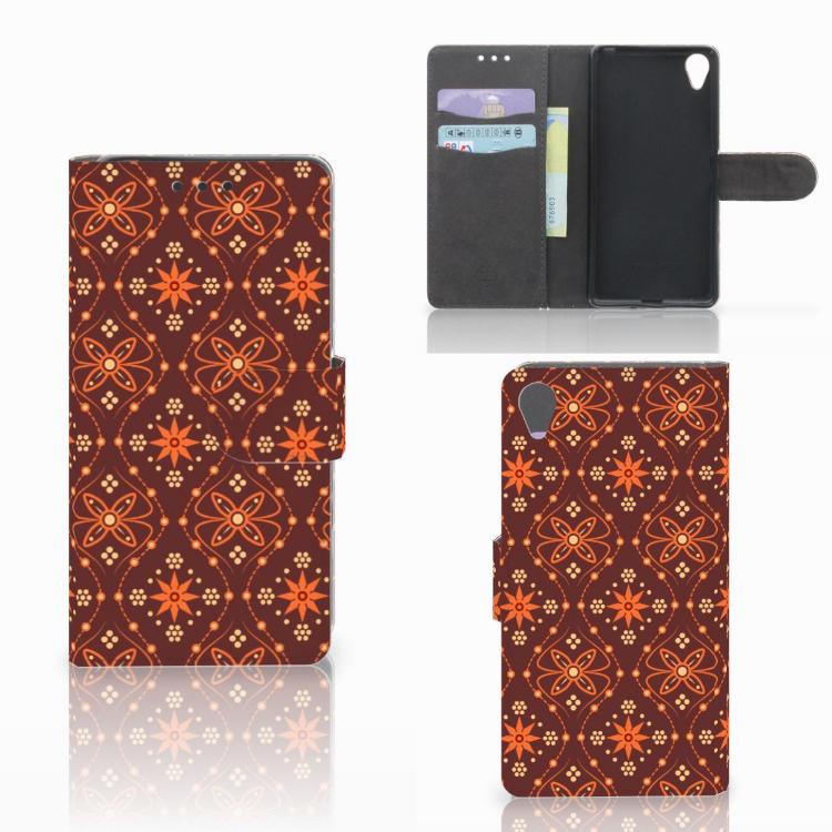 Sony Xperia X Telefoon Hoesje Batik Brown