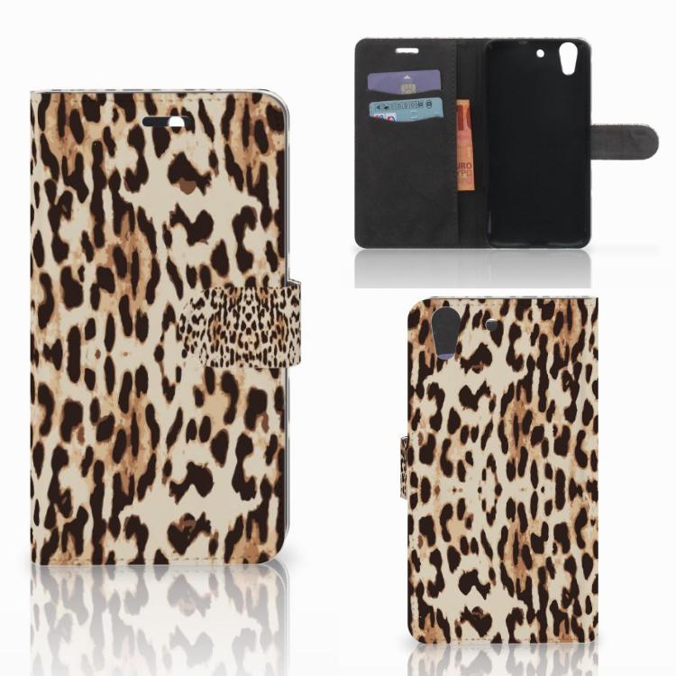 Huawei Y6 II | Honor 5A Telefoonhoesje met Pasjes Leopard