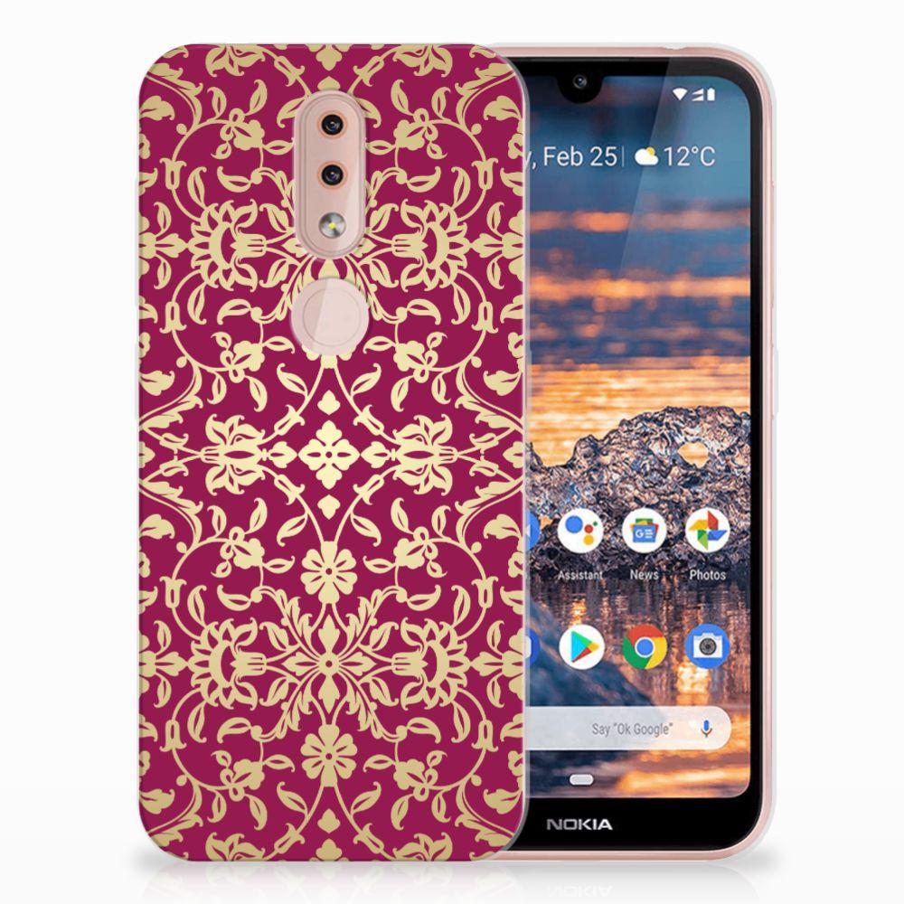 Siliconen Hoesje Nokia 4.2 Barok Pink