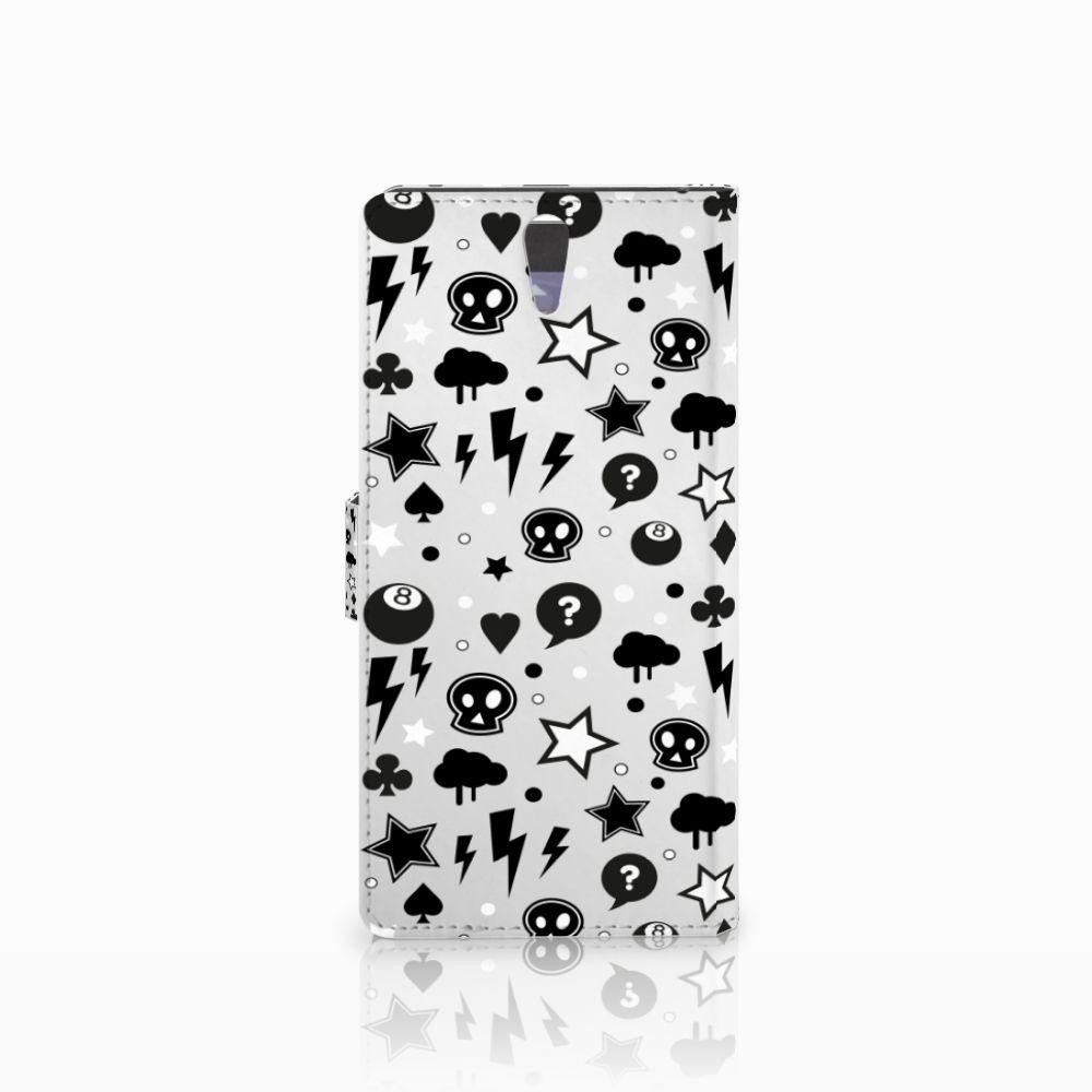 Telefoonhoesje met Naam Sony Xperia C5 Ultra Silver Punk