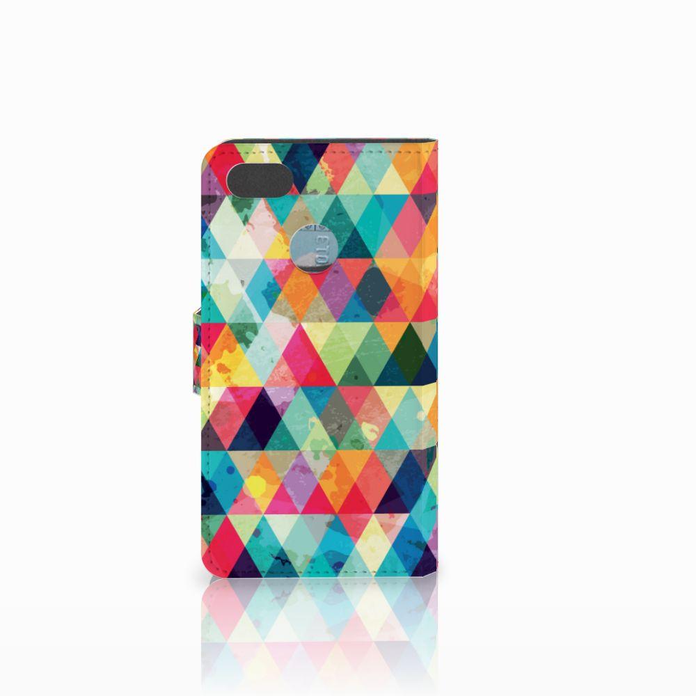 Huawei Y6 Pro 2017 Telefoon Hoesje Geruit