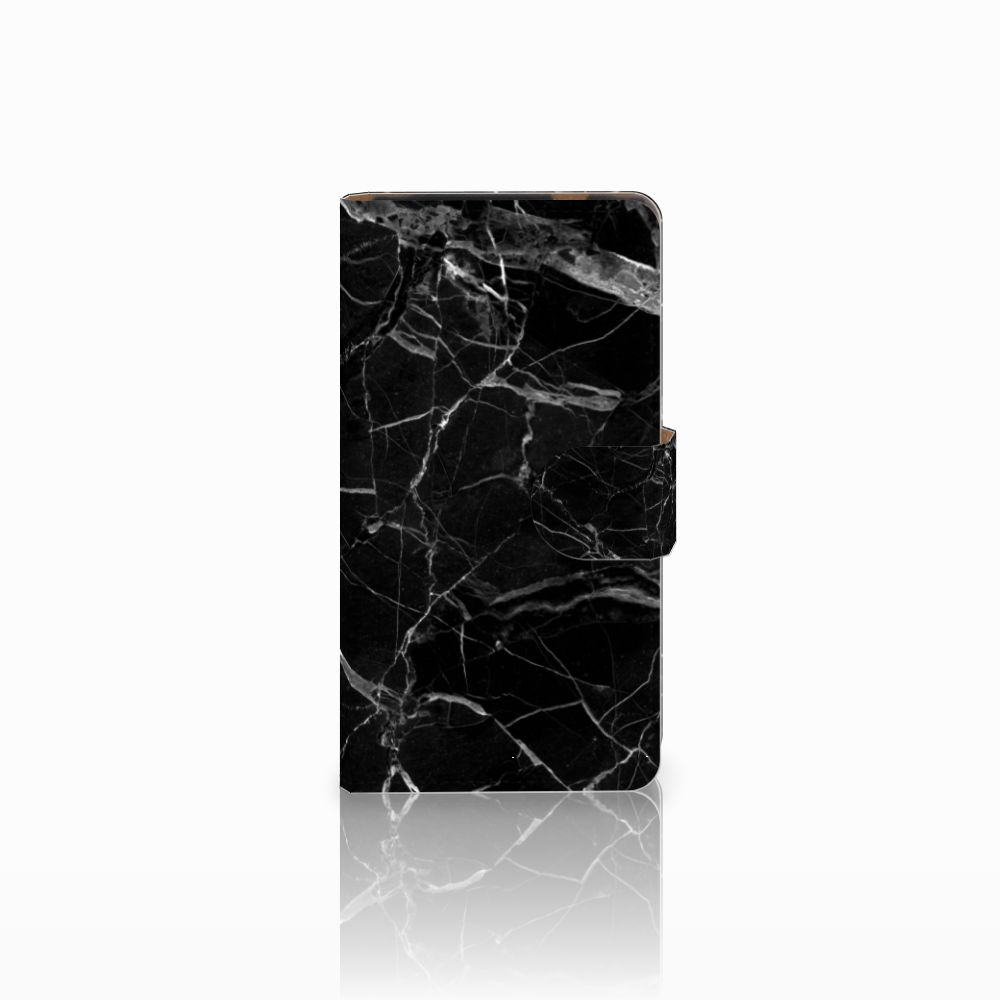 HTC Desire 601 Uniek Boekhoesje Marmer Zwart