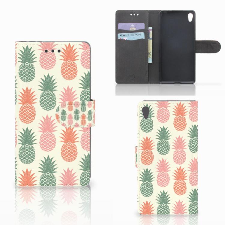 Sony Xperia E5 Book Cover Ananas