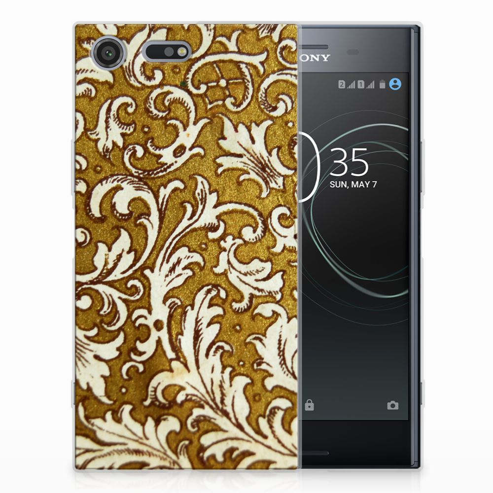 Siliconen Hoesje Sony Xperia XZ Premium Barok Goud