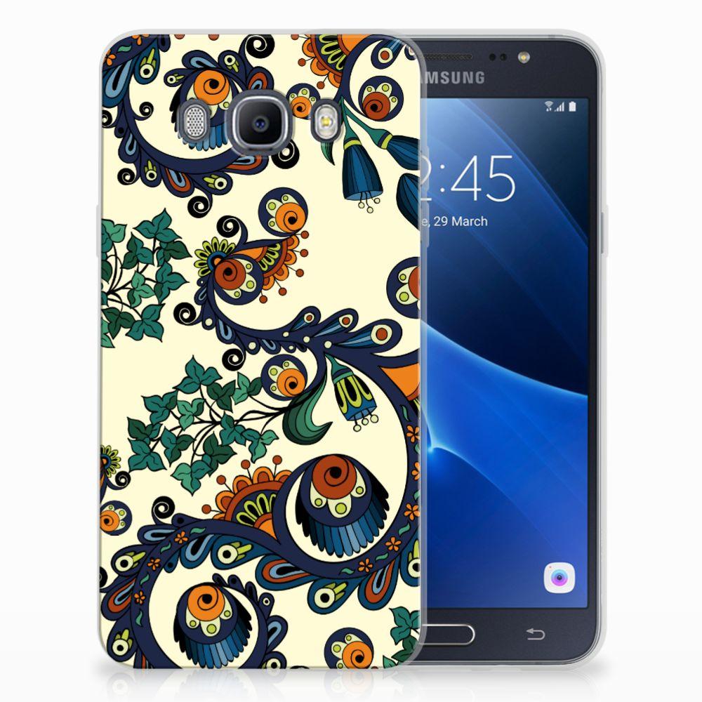 Siliconen Hoesje Samsung Galaxy J7 2016 Barok Flower