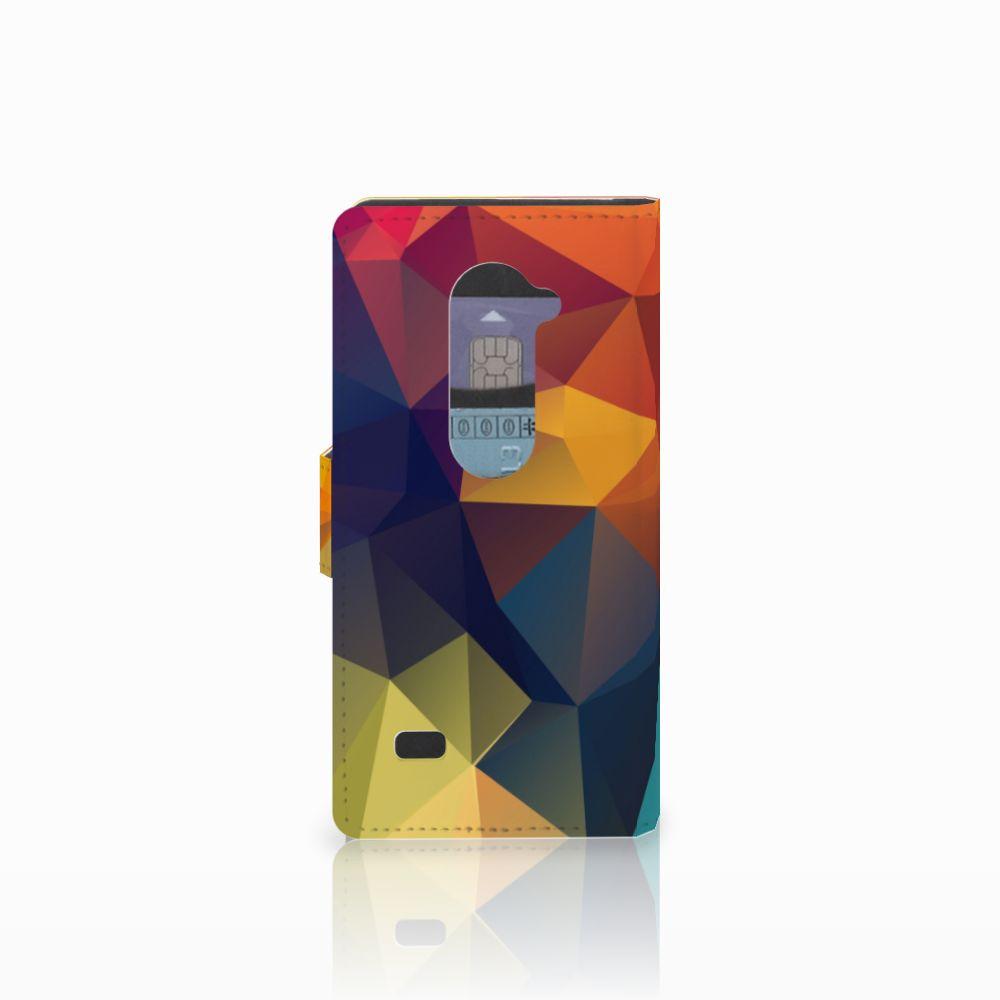 LG Leon 4G Bookcase Polygon Color