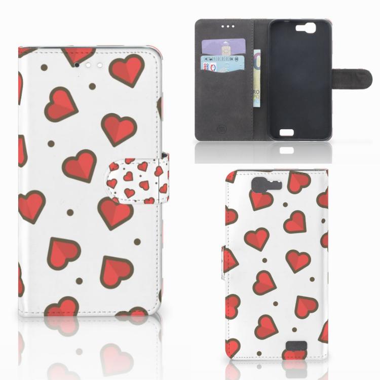 Huawei Ascend G7 Telefoon Hoesje Hearts