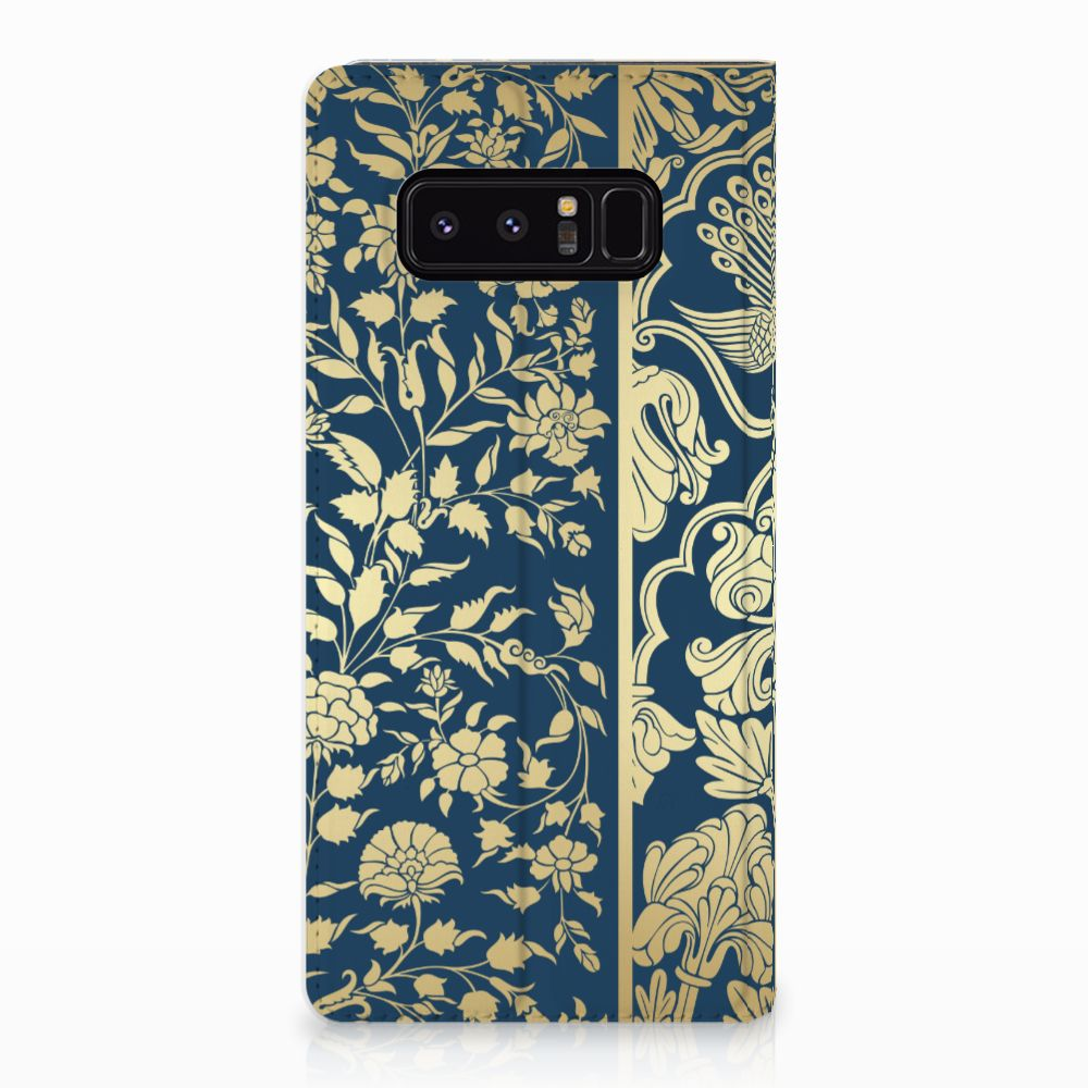 Samsung Galaxy Note 8 Standcase Hoesje Golden Flowers