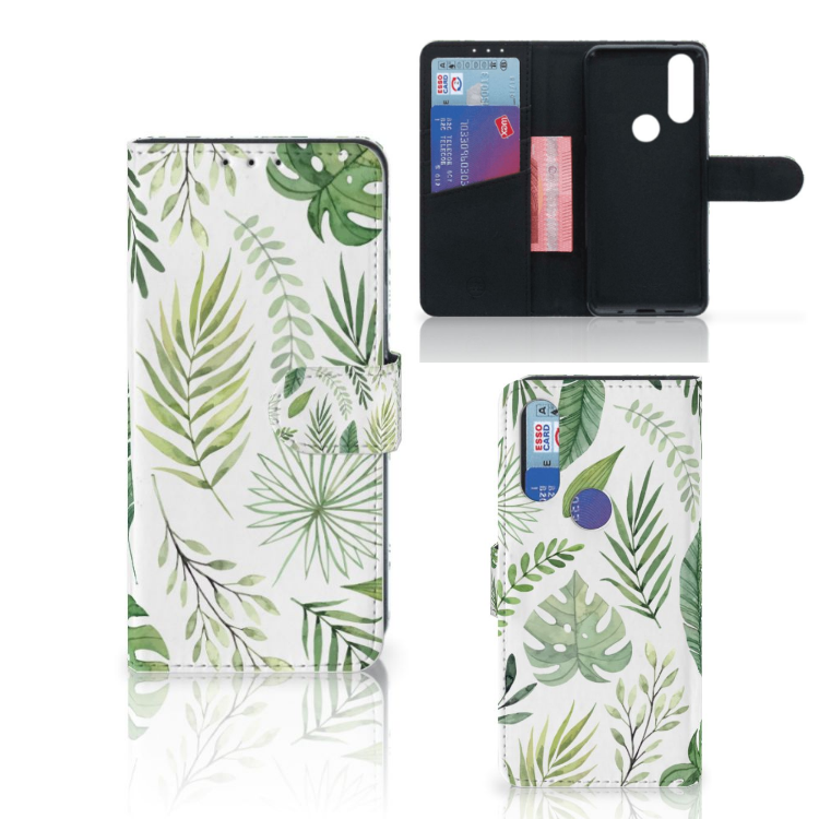 Motorola One Action Hoesje Leaves