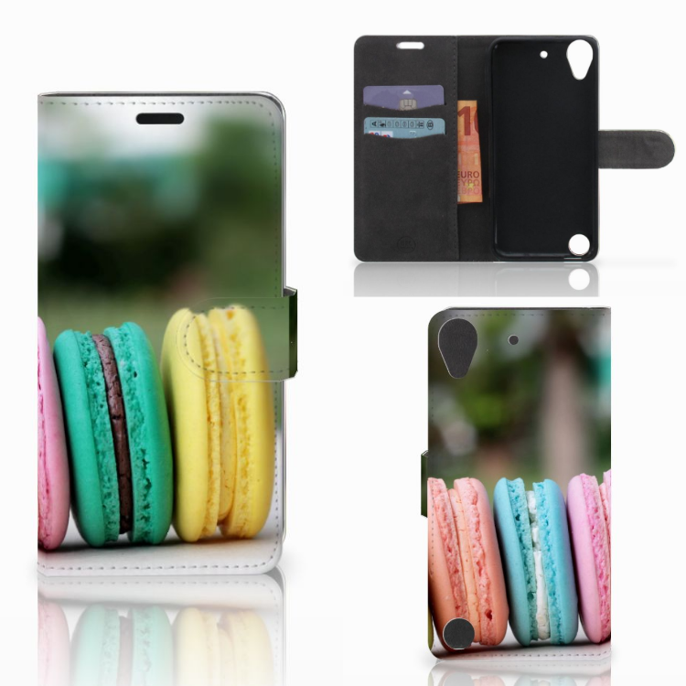 HTC Desire 530 Book Cover Macarons