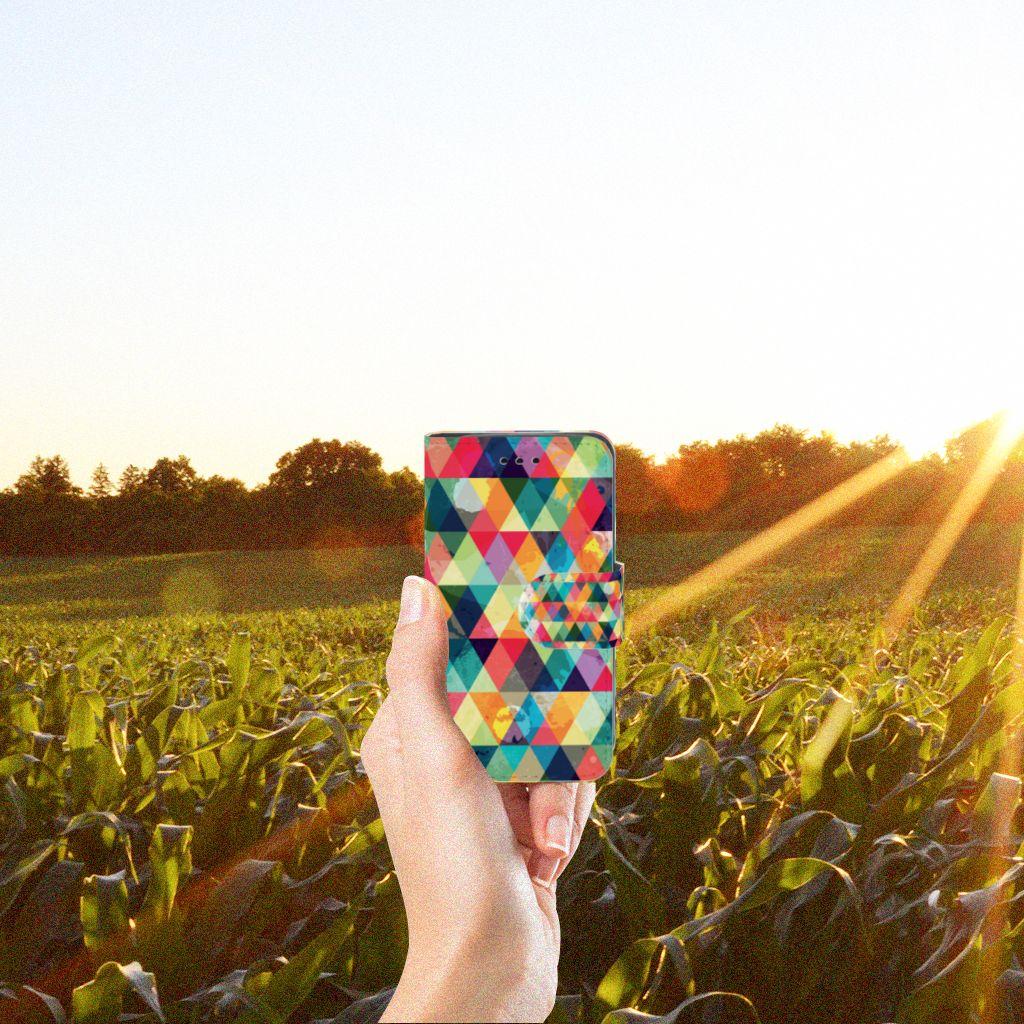 Samsung Galaxy Trend 2 Telefoon Hoesje Geruit