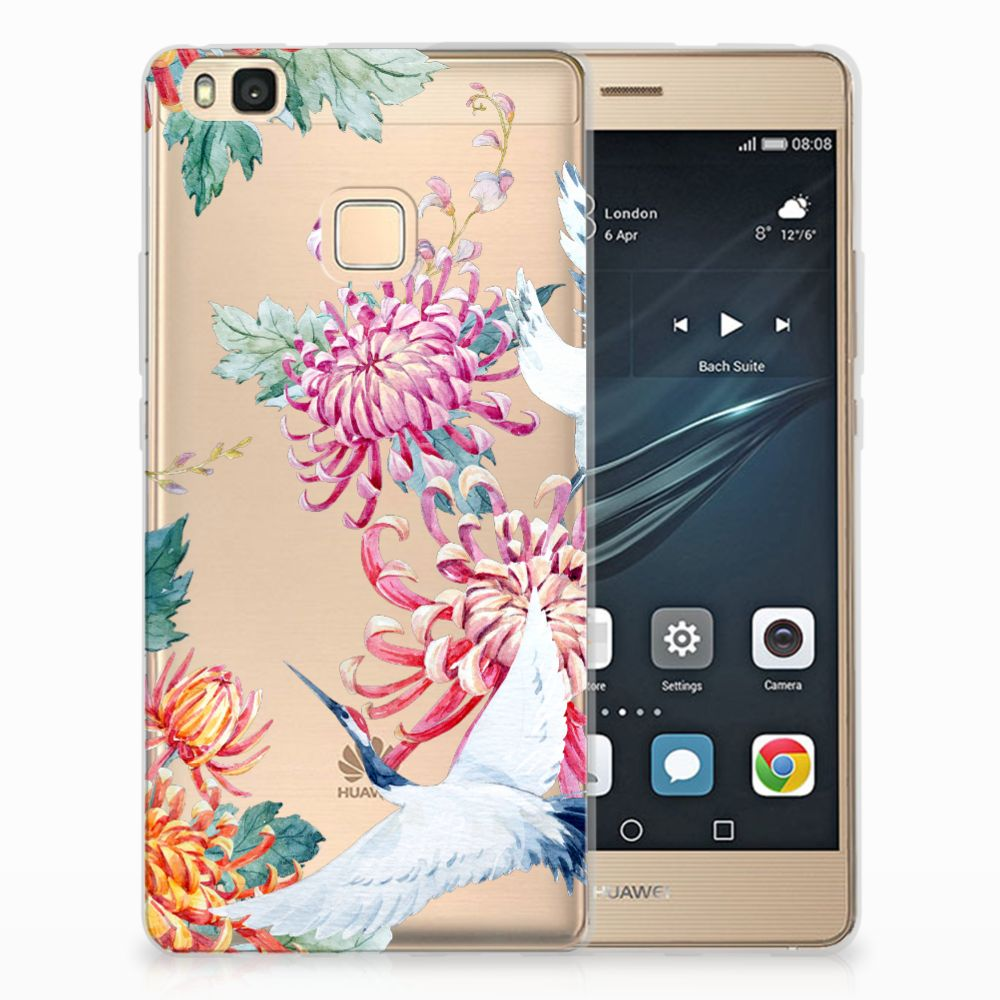 Huawei P9 Lite Uniek TPU Hoesje Bird Flowers