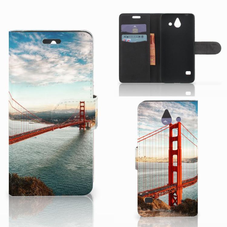 Huawei Ascend Y550 Flip Cover Golden Gate Bridge