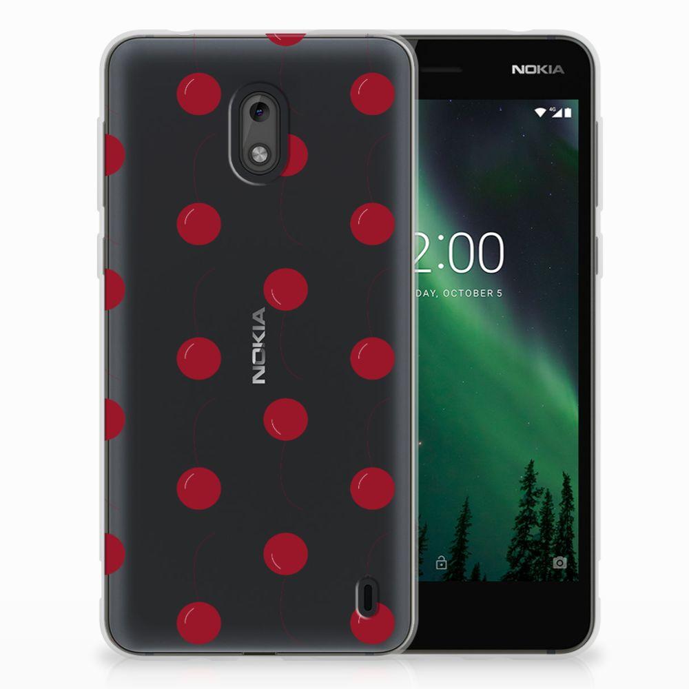 Nokia 2 Siliconen Case Cherries