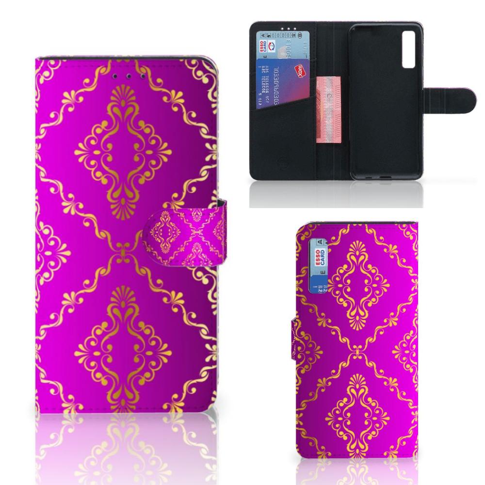 Wallet Case Samsung Galaxy A7 (2018) Barok Roze