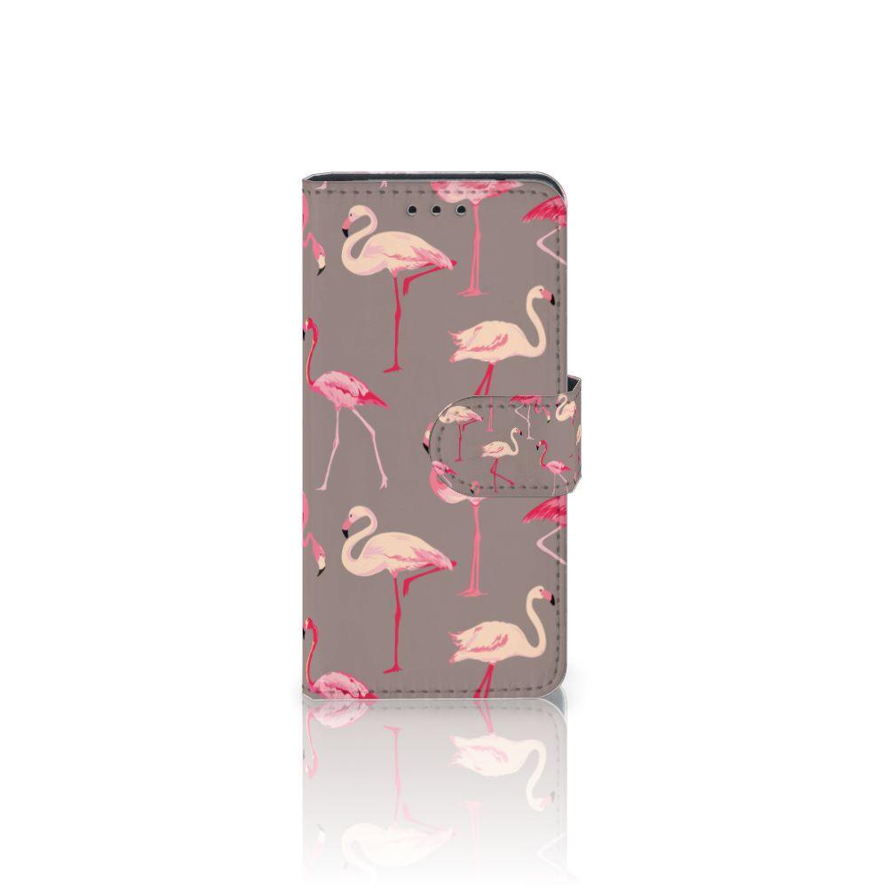 Samsung Galaxy S5 Mini Uniek Boekhoesje Flamingo