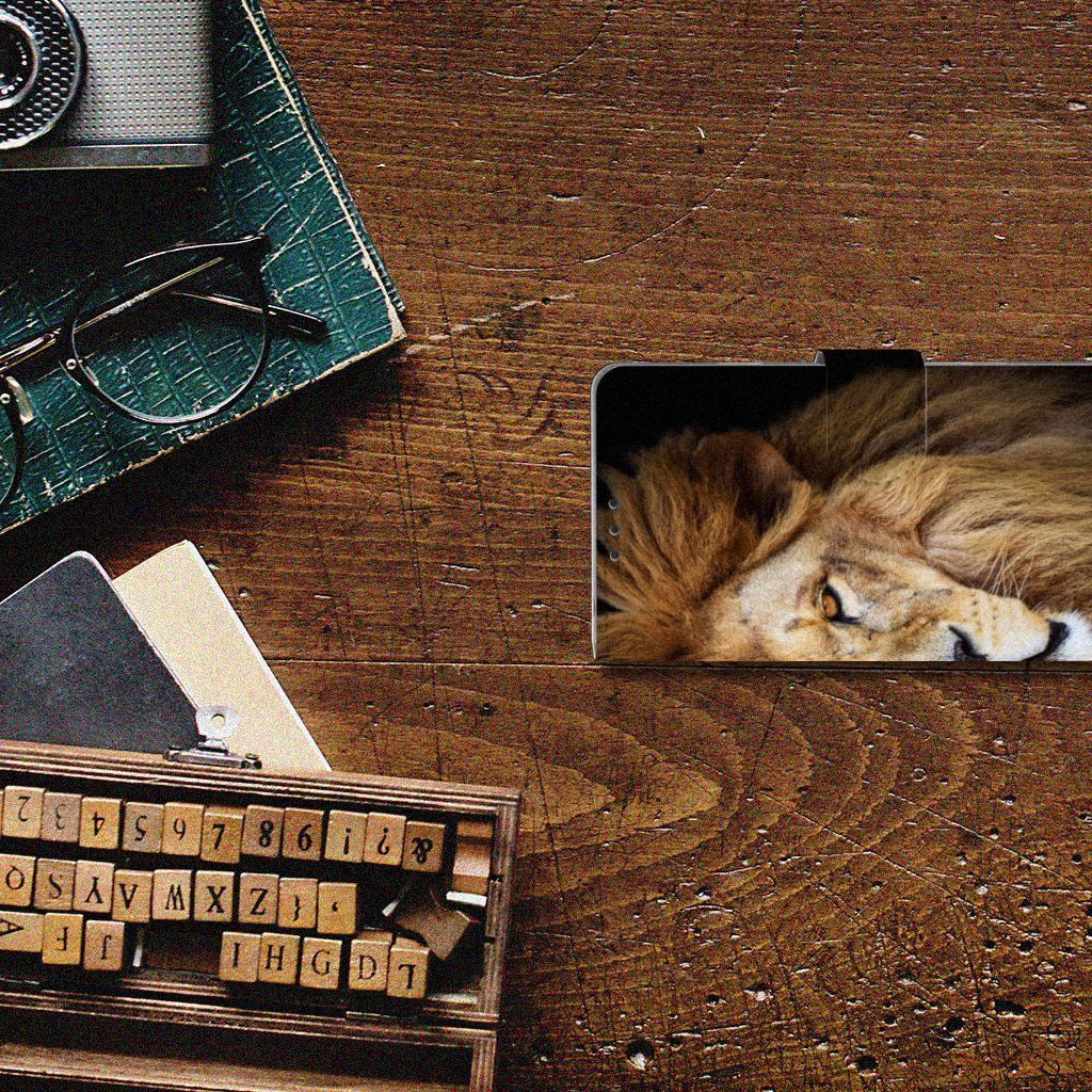 Sony Xperia Z1 Telefoonhoesje met Pasjes Leeuw