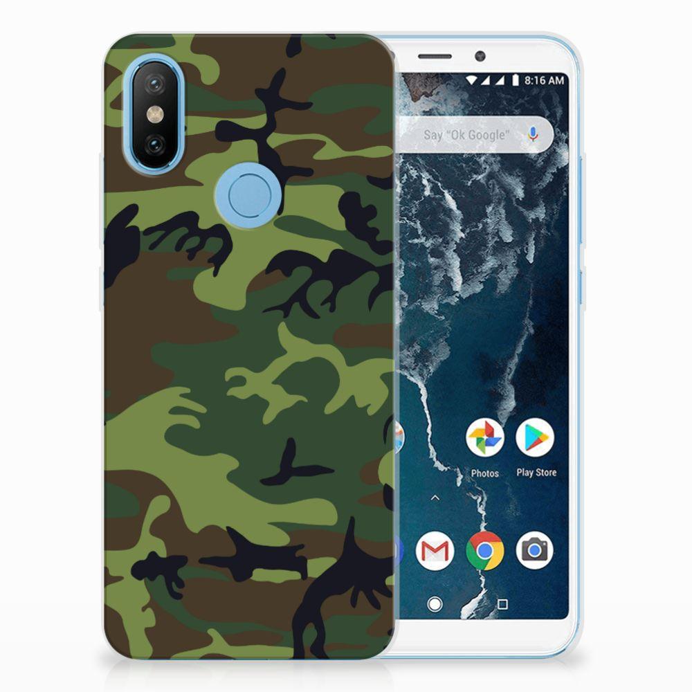 Xiaomi Mi A2 TPU Hoesje Design Army Dark