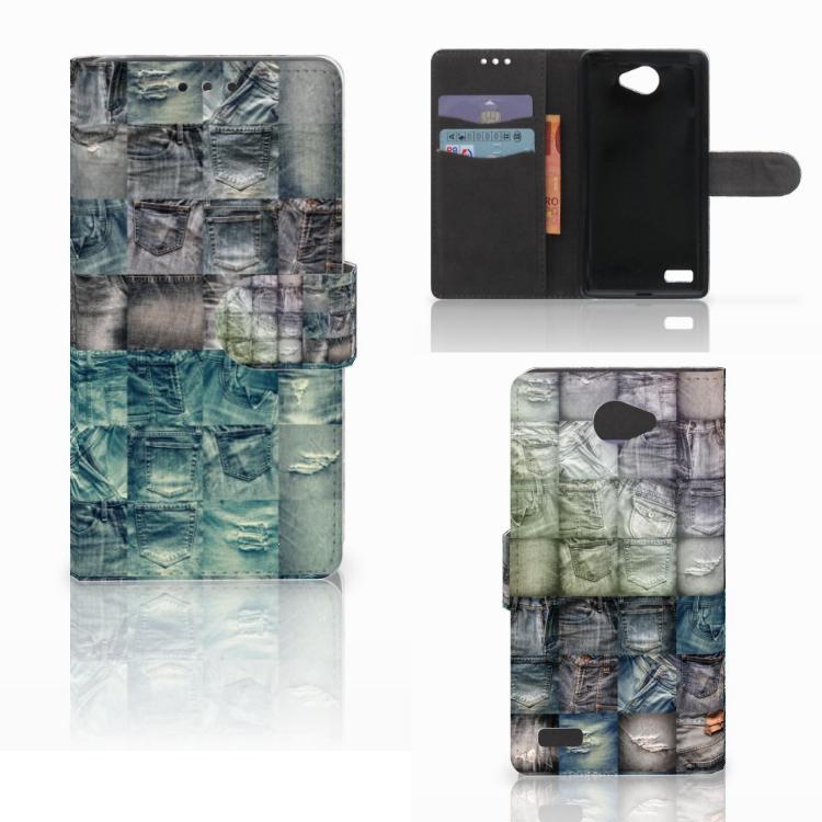 Wallet Case met Pasjes LG Bello 2 Spijkerbroeken