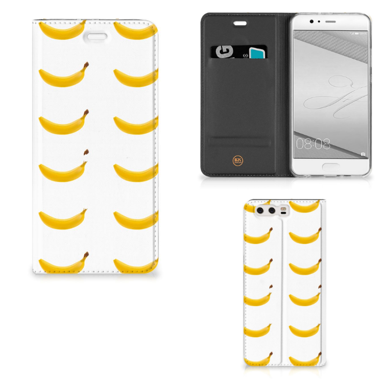 Huawei P10 Plus Flip Style Cover Banana