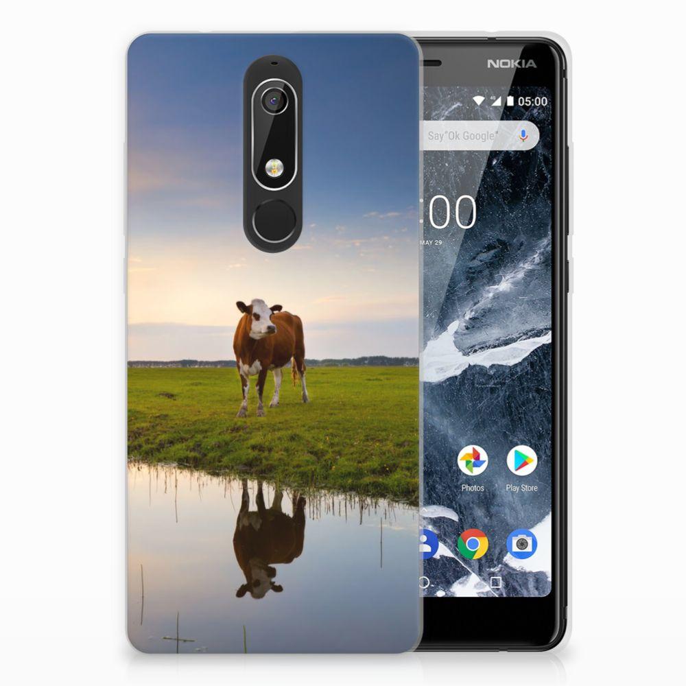 Nokia 5.1 (2018) TPU Hoesje Design Koe