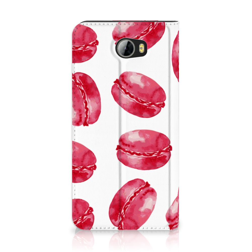 Huawei Y5 2 | Y6 Compact Standcase Hoesje Design Pink Macarons