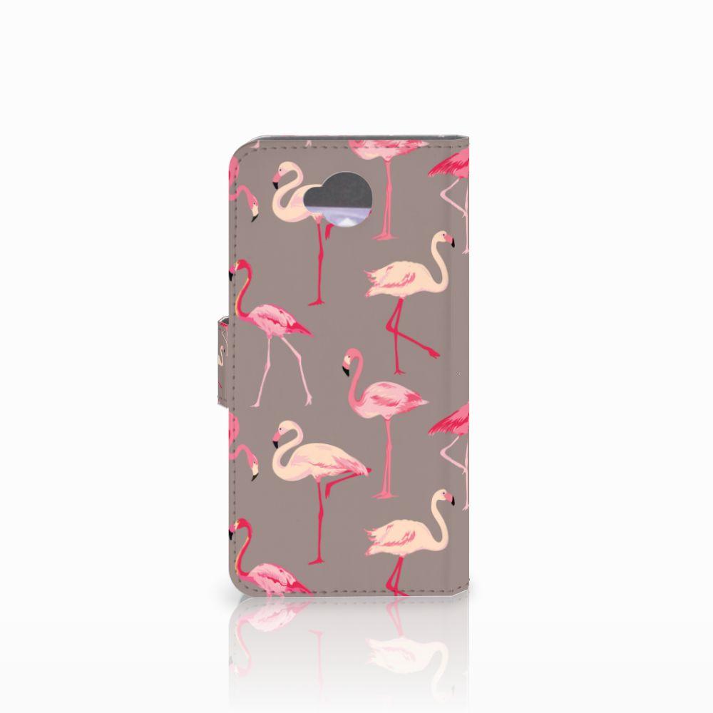 Microsoft Lumia 650 Telefoonhoesje met Pasjes Flamingo