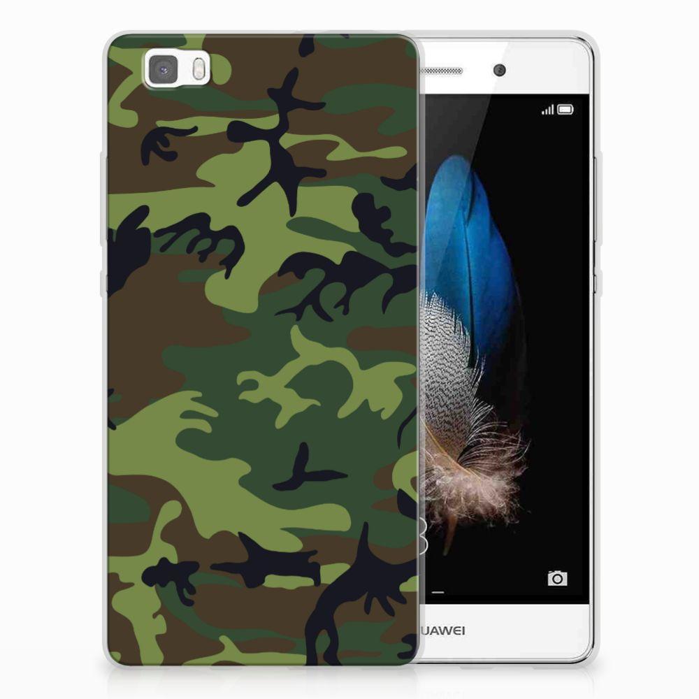 Huawei Ascend P8 Lite TPU Hoesje Design Army Dark