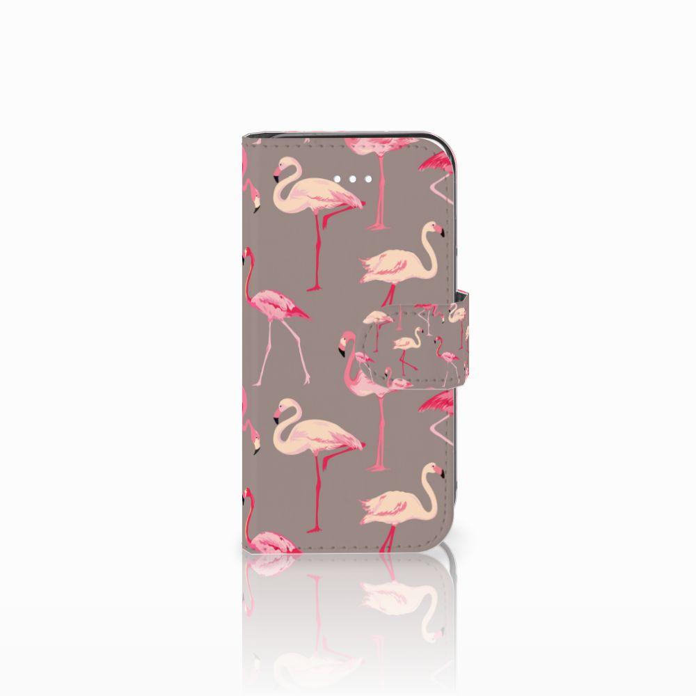 Apple iPhone 5 | 5s | SE Telefoonhoesje met Pasjes Flamingo